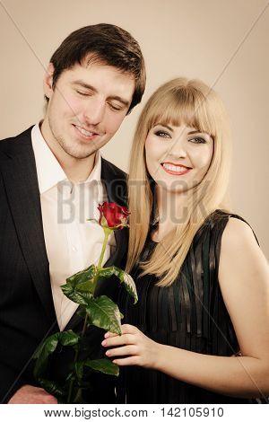 Elegant Couple On Perfect Date.