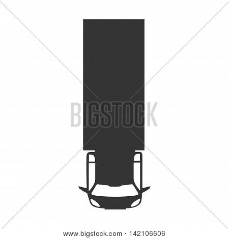 truck vehicle top transportation car sedan automobile vector graphic isolated and flat illustration