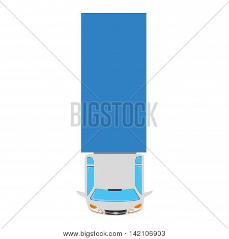 truck cargo vehicle top transportation car sedan automobile vector graphic isolated and flat illustration