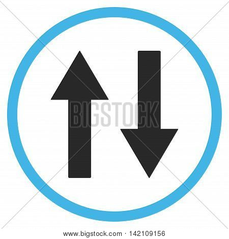 Vertical Flip Arrows glyph icon. Style is bicolor flat rounded iconic symbol, vertical flip arrows icon is drawn with blue and gray colors on a white background.