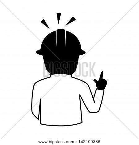 man helmet construction foreman person human  engineer vector graphic isolated and flat illustration