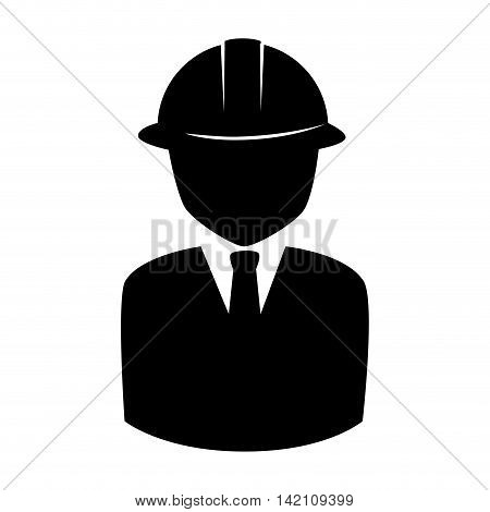man helmet suit tie construction foreman person human  engineer vector graphic isolated and flat illustration