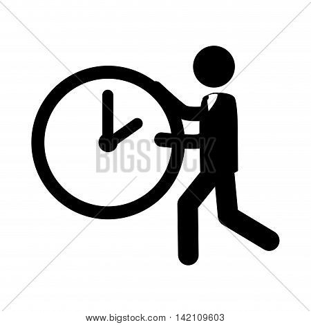 person run time watch clock hand business vector graphic isolated and flat illustration