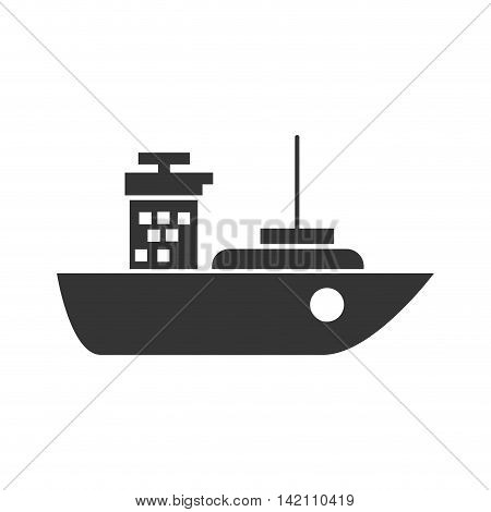 ship cargo industry tower sea package transport vector graphic isolated and flat illustration