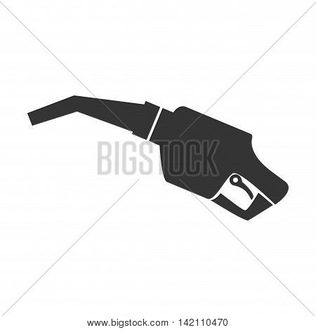nozzle gas station service diesel gasoline automobile vehicle vector graphic isolated and flat illustration