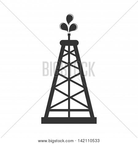 tower icon drilling oil fuel liquid chemestry industry petroleum vector graphic isolated and flat illustration