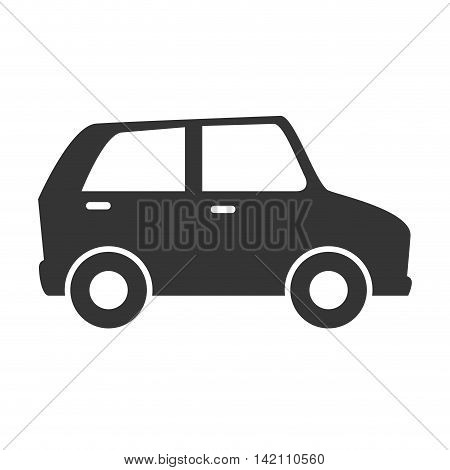 car icon side silhouette vehicle toy sedan vector graphic isolated and flat illustration
