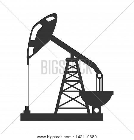 oil rig tower crane drilling industry petrol vector graphic isolated and flat illustration