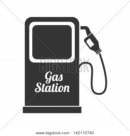 gas pump station nozzle car vehicle industrial fuel auto vector graphic isolated and flat illustration