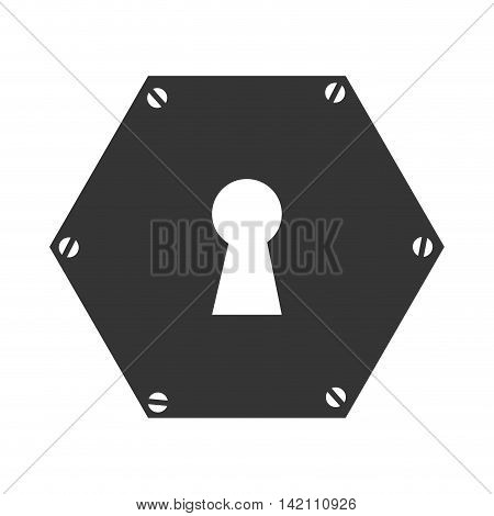 key hole door safety security metal open close vector graphic isolated and flat illustration