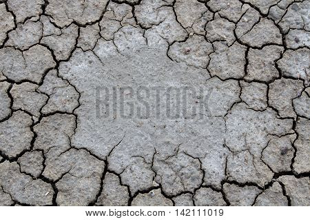 Dry cracked ground for background, Dry cracked ground