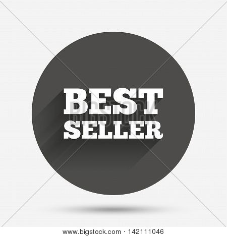 Best seller sign icon. Best seller award symbol. Circle flat button with shadow. Vector