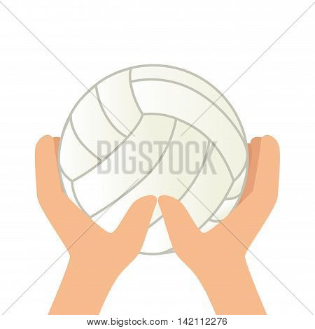 volleyball hand ball game sport play handball object  vector graphic isolated shiny  illustration