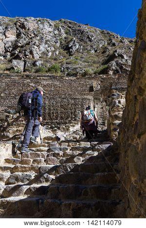 Steep Steps In Ollantaytambo