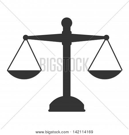 scales law weight equal legal sentence symbol vector graphic isolated and flat illustration