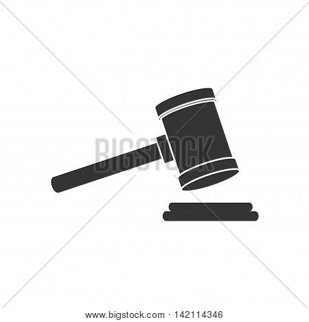 auction prision court hudgement hammer sentence decision vector graphic isolated and flat illustration