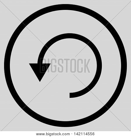 Rotate Ccw vector icon. Style is flat rounded iconic symbol, rotate ccw icon is drawn with black color on a light gray background.