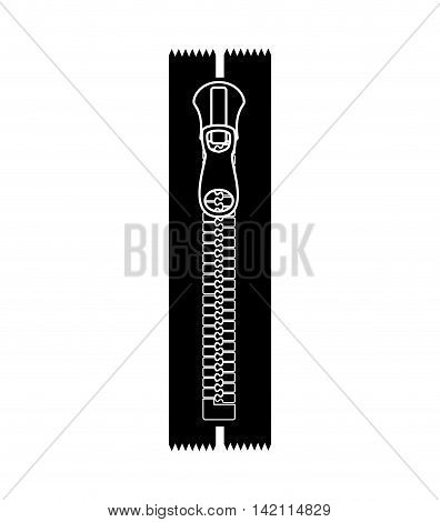 zipper zip clothing sewing unzip lock pull open vector graphic isolated and flat illustration