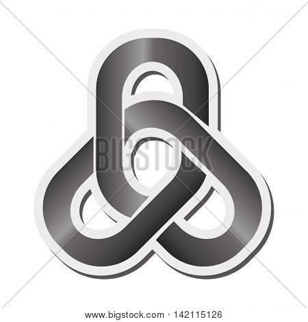 flat design link chain icon vector illustration