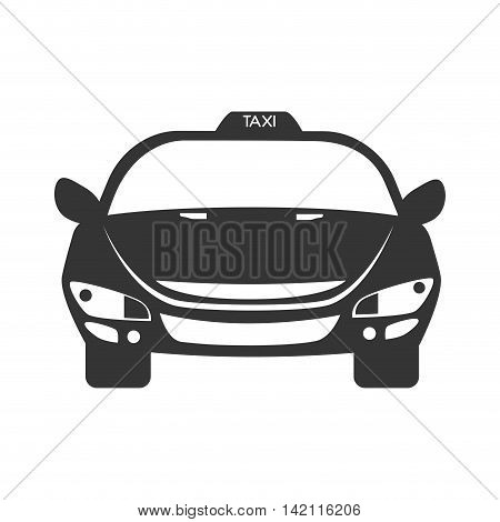 taxi car service auto vehicle front modern vector graphic isolated illustration