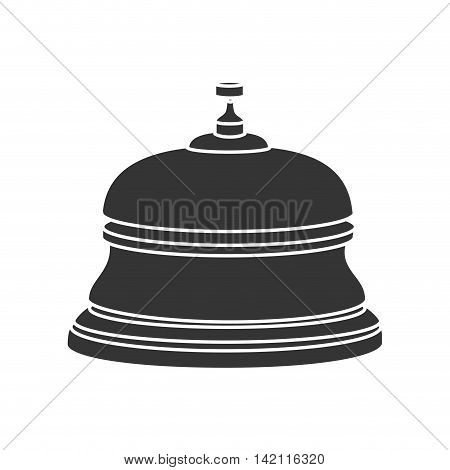 reception bell hotel ring button service lobby vector graphic isolated illustration