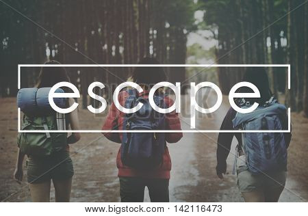 Escape Exploration Holiday Journey Trek Trip Concept