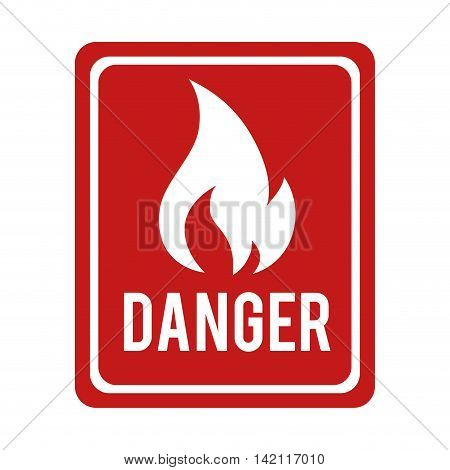 flame fire sign flammable danger warning burn vector graphic isolated illustration