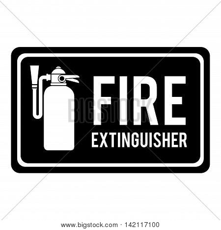 fire extinguisher sign hose hydrant fireman tool sign vector graphic isolated illustration
