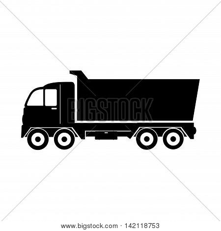 truck dump construction industry cargo service vector graphic isolated illustration