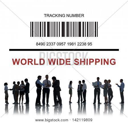 Bar Code Order Tracking Number Concept