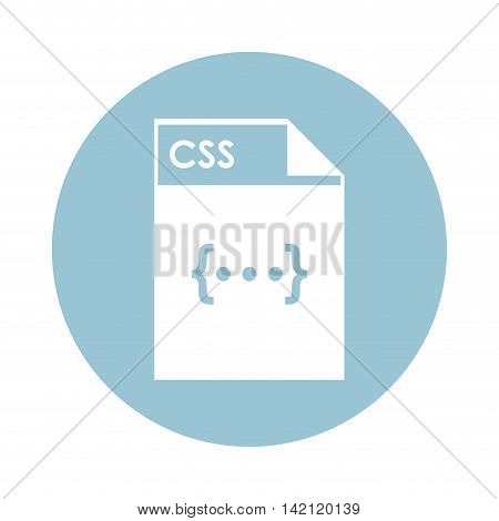 flat design CSS file icon vector illustration