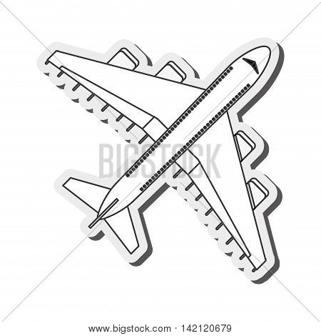 flat design comercial airplane icon vector illustration