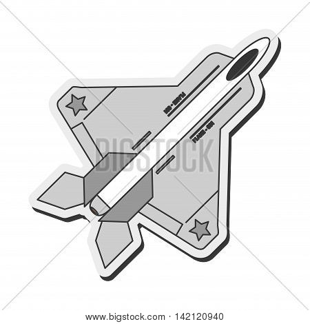 flat design combat aircraft icon vector illustration