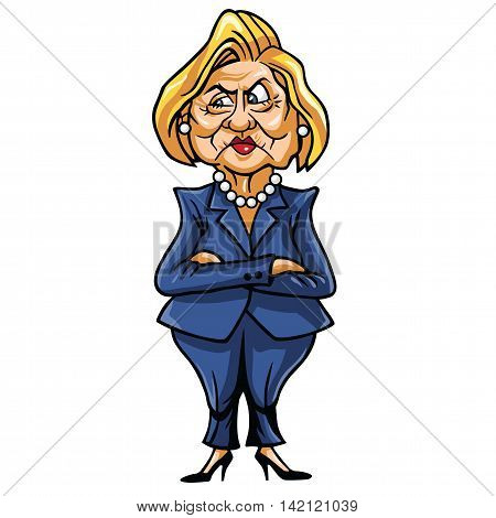 Caricature of Hillary Clinton, United States Democratic Presidential Candidate