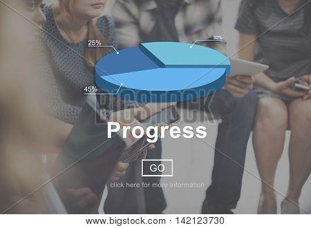 Progress Mission Move Forward Improvement Concept