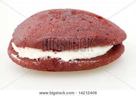 Isolated Red Velvet Whoopie Pie