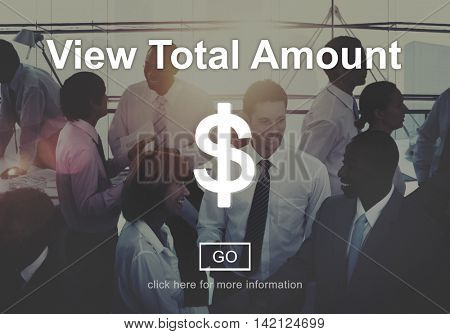 View Total Amount Accounting Payment Tax Concept