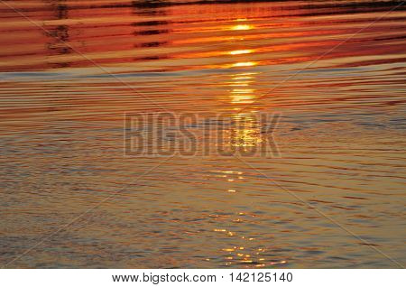 Sunset over Yellow Rivers Kakadu Northern Territory