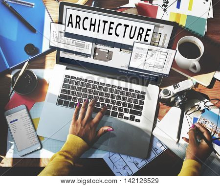 Architecture Layout Blueprint Build Constract Concept