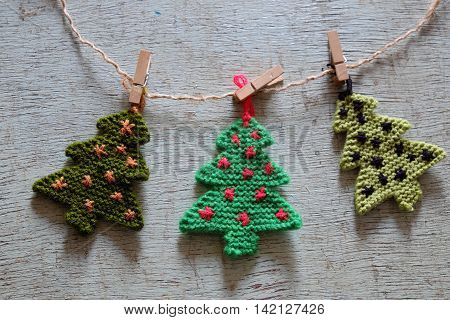 Knitted Xmas Tree, Christmas Trees
