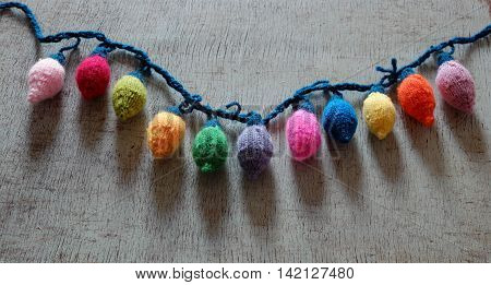 Xmas Ornament,  Knitted Christmas Lights