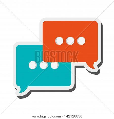 flat design conversation bubble icon vector illustration