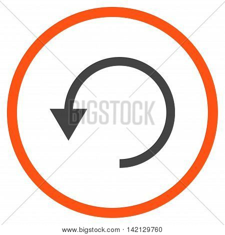 Rotate Ccw vector icon. Style is bicolor flat rounded iconic symbol, rotate ccw icon is drawn with orange and gray colors on a white background.