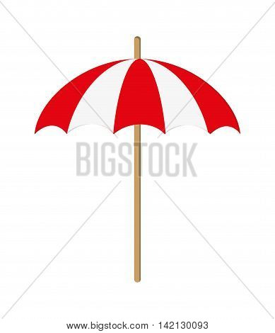 flat design single parasol icon vector illustration