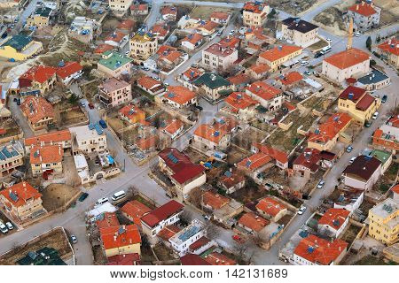 Overhead View Of Town In Cappadoccia
