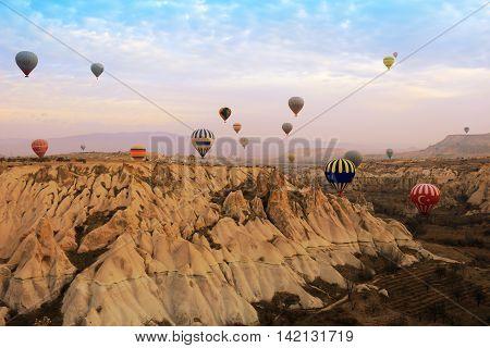 Hot Air Balloon, Cappadocia Turkey Sunrise