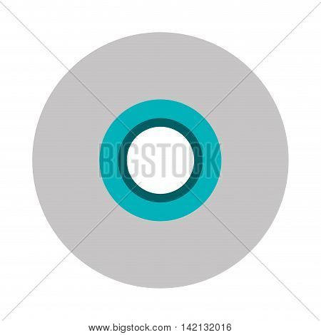 flat design single cd icon vector illustration