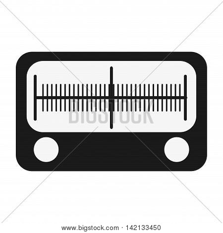 flat design single radio icon vector illustration