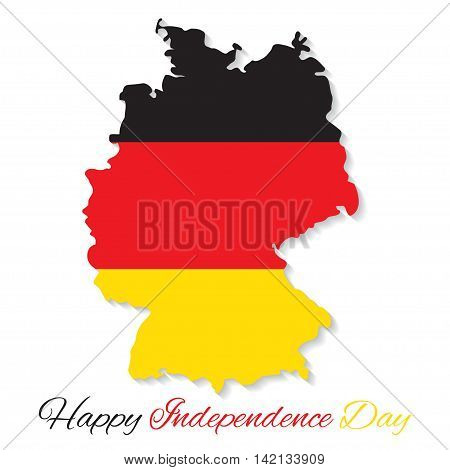 3 October Germany Independence Day. German map vector illustration