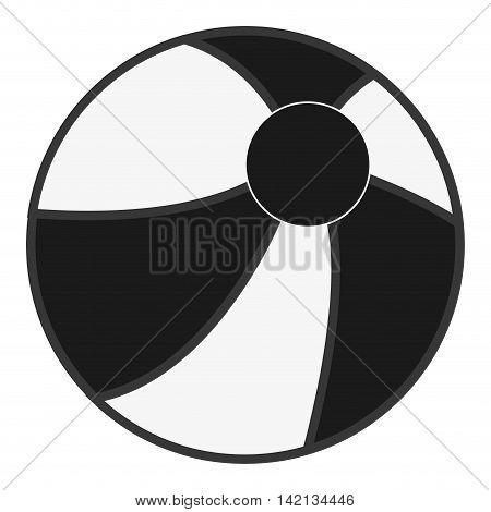 flat design beach ball icon vector illustration